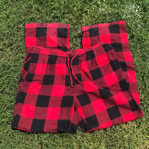 boxercraft Other - Men's Red Flannel Cotton Pajamas Drawstring